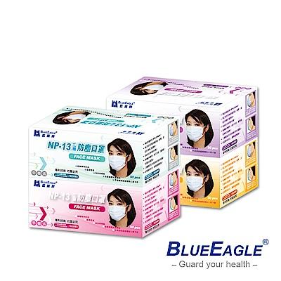 藍鷹牌 馬卡龍新色 一般成人防塵口罩/成人平面口罩/三層式口罩50片/盒