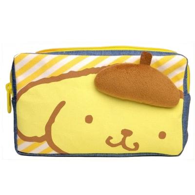 Sanrio 布丁狗可愛大臉立體裝飾雙層拉鍊化妝包