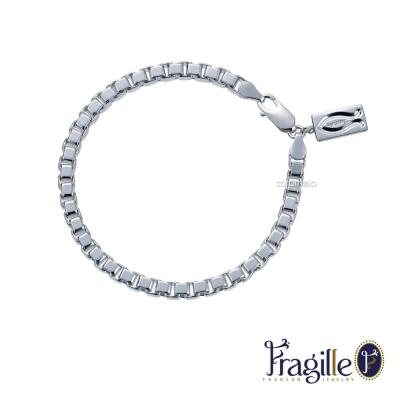 彩糖鑽工坊 愛情魚 銀手鍊 (男手鍊) Fragille系列