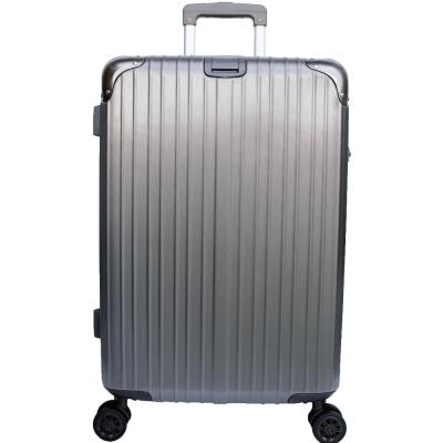 YC Eason 麗致24吋PC髮絲紋可加大海關鎖行李箱 鐵灰