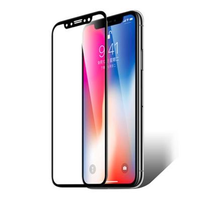 【SHOWHAN】全覆蓋iPhone X (5.8吋)高清亮面防指紋9H鋼化玻璃...