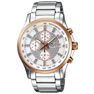 EDIFICE 閃耀時尚都會計時腕錶(白)-41mm