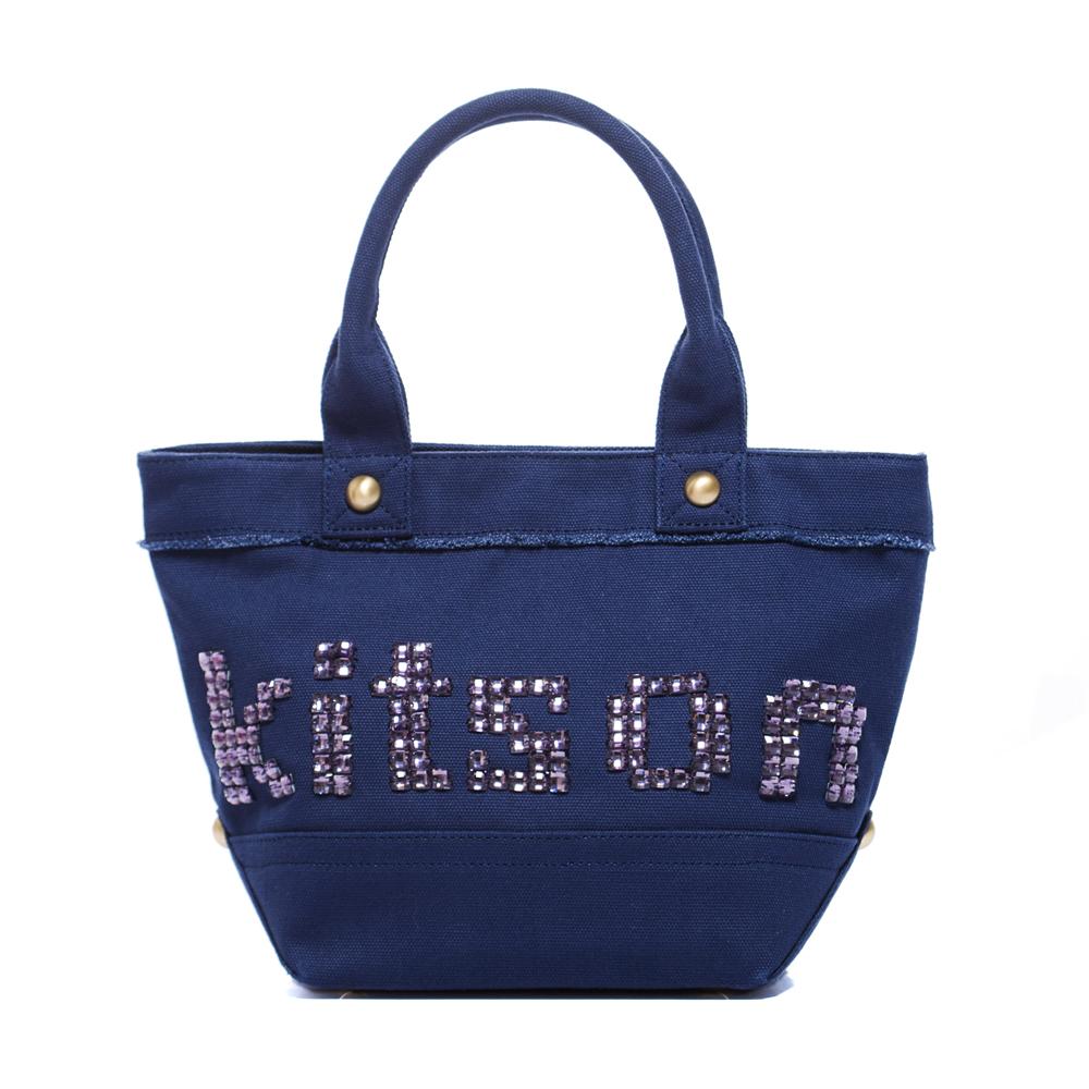 kitson  晶透串珠托特包 BLUE