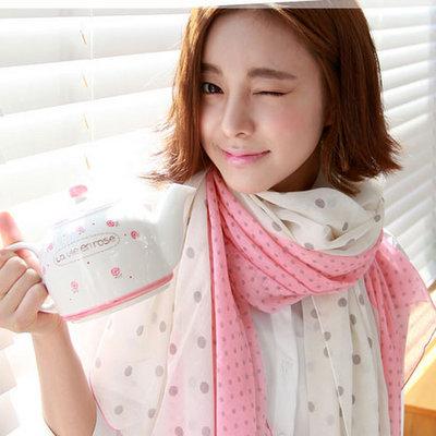 ACUBY-浪漫點點薄圍巾