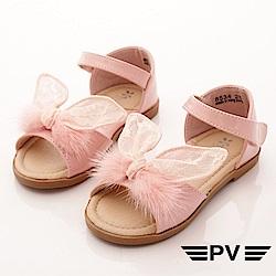 PV日系私藏 蕾絲小兔耳朵涼鞋款 EI534粉(中小童段)