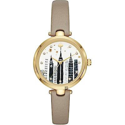 Kate Spade NEW YORK 紐約城市時尚手錶-34mm
