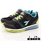 DIADORA-機能全氣墊跑鞋-RSI210黑(中小童段)