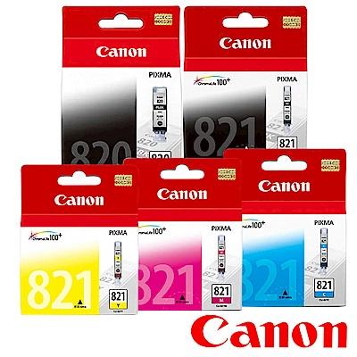 Canon PGI-820BK+CLI-821BK/C/M/Y原廠墨水組合(2黑3彩5入)