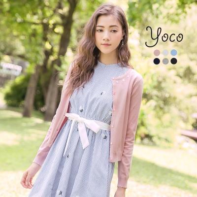 東京著衣-yoco 花瓣甜心多色亮片針織小外套-S.M.L(共六色)
