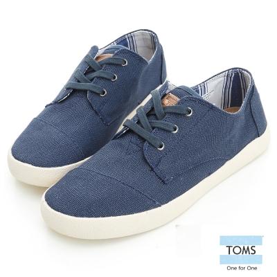 TOMS 經典款休閒鞋-女款(藍)