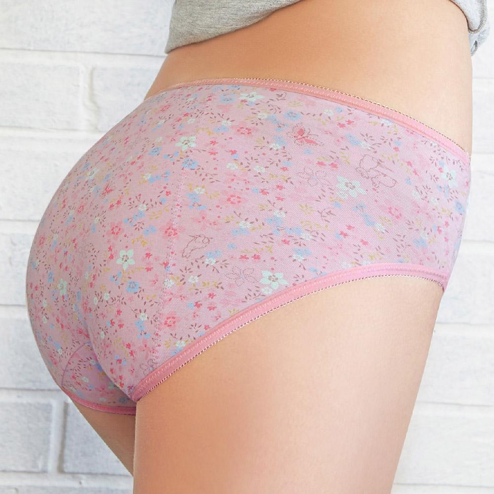 瑪登瑪朵 中腰三角生理內褲M-XL(花園紫)