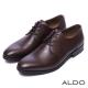 ALDO-原色幾何雙車線綁帶真皮男鞋-內斂深棕