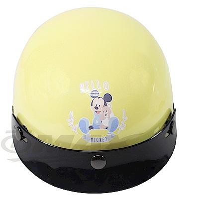 米奇與小熊兒童機車安全帽-黃色