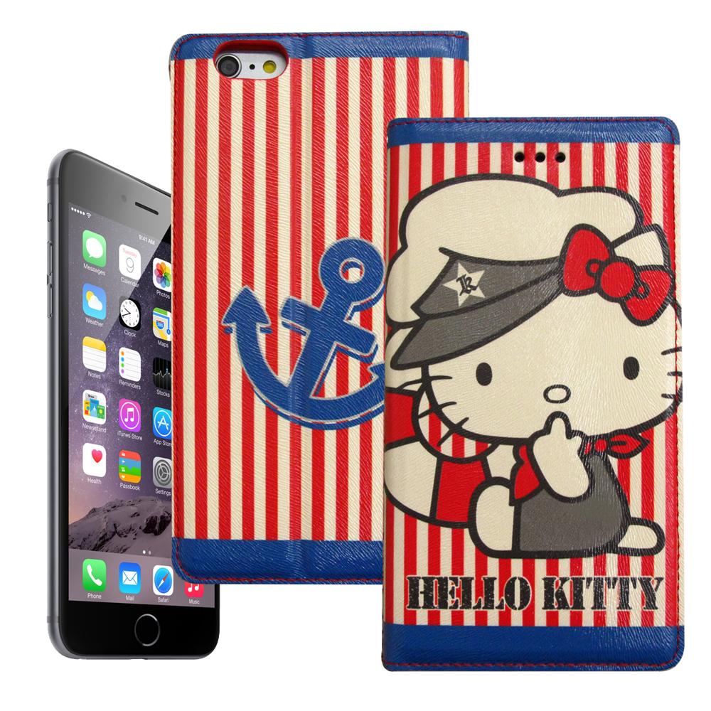 Hello Kitty iphone 6 6s彩繪磁力皮套水手船長