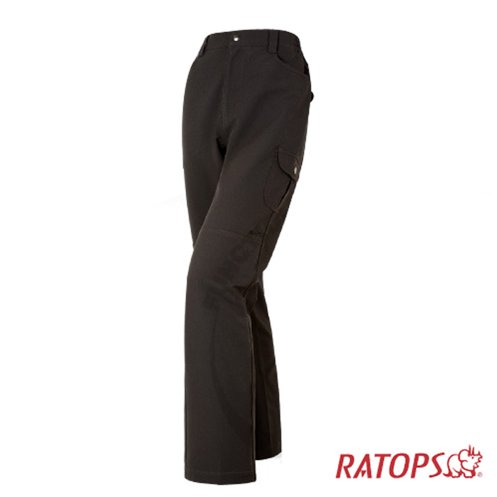 【瑞多仕】女彈性磨毛保暖長褲_DA3626 濃巧克力色 V1