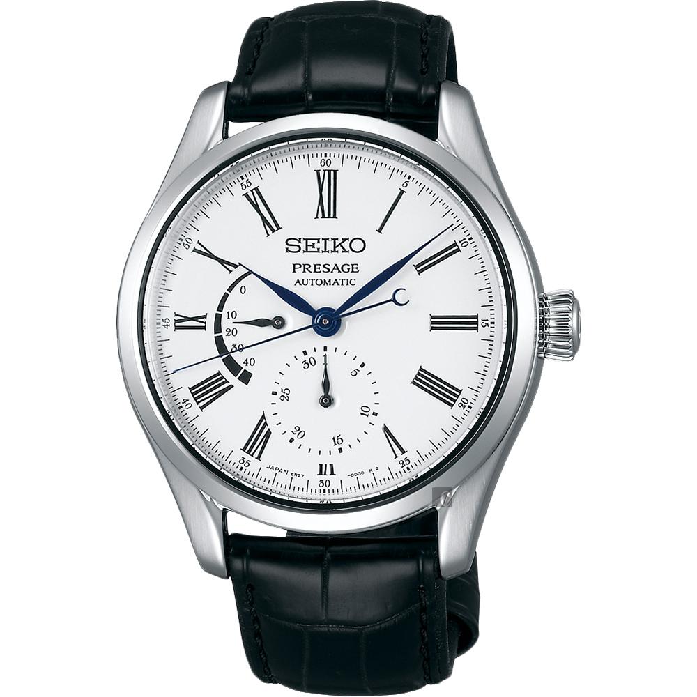 SEIKO精工 Presage 動力儲存琺瑯機械錶(SPB045J1)-白/39mm