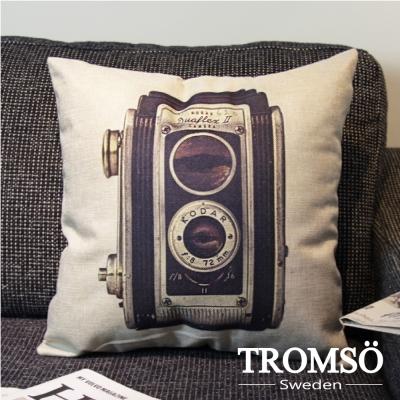 TROMSO-品味英倫棉麻抱枕/復古雙眼