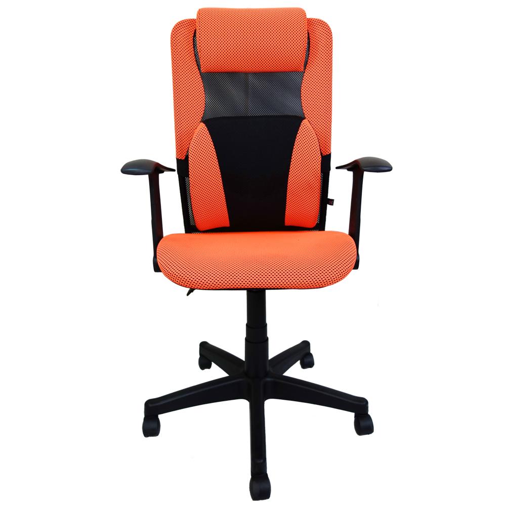 貝拉密PU腰枕無段傾仰網座辦公椅電腦椅(六色)