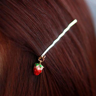 Hera赫拉 可愛立體草莓髮夾/邊夾/一字夾2入組(不挑色)