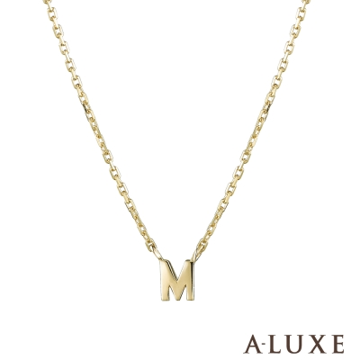 A-LUXE 亞立詩 Alphabet系列 10K項鍊-M