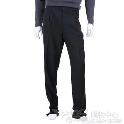 BOSS 黑灰色抓褶西裝褲