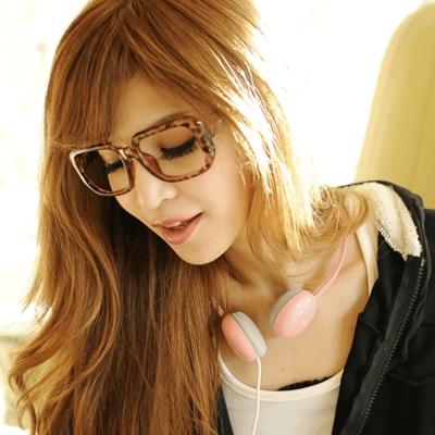 Aimee-Toff-強烈印象無鏡膠框眼鏡-豹