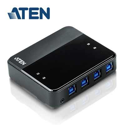 ATEN 4埠 USB 3.0 周邊分享裝置 (US434)