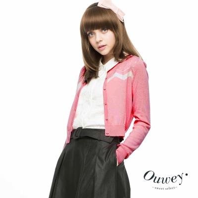 OUWEY歐薇-水玉刺繡短版毛衣外套-共2色