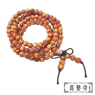 原藝坊 帝王血龍木108顆 佛珠手鍊 (直徑約6mm)