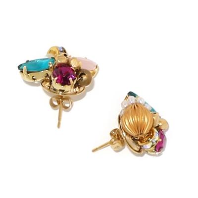 Luce Costante Petit系列不對稱水晶耳環(針式/耳扣式)