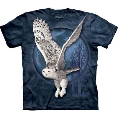 摩達客 美國進口The Mountain 白貓頭鷹 純棉環保短袖T恤