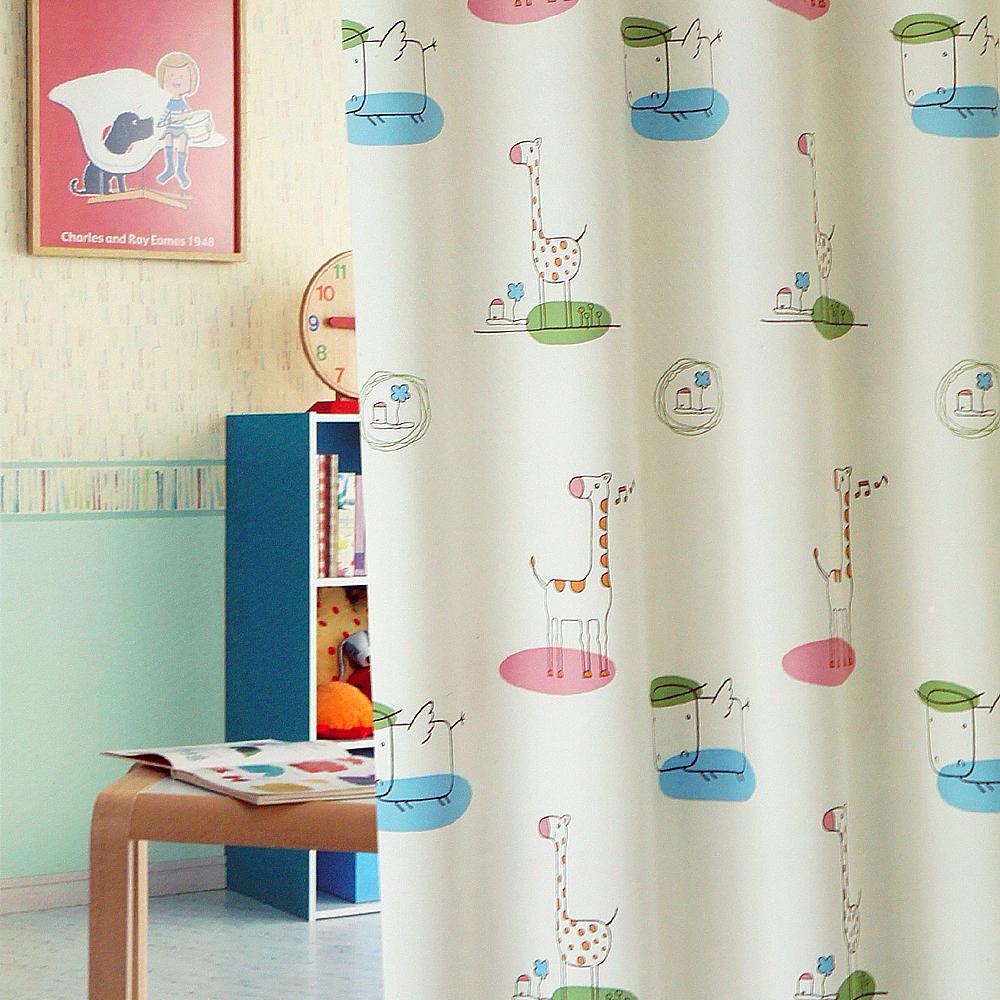 布安於室-動物天堂遮光單層穿管式窗簾-落地窗(寬270*高240cm)