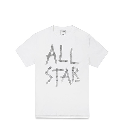 CONVERSE-男休閒短T恤10001199-102-白