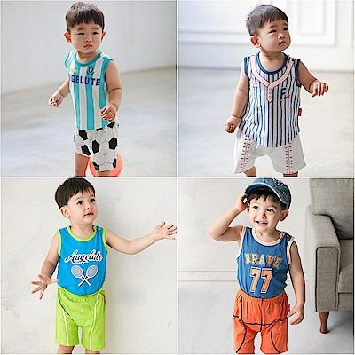 baby童衣 無袖背心運動造型上衣加褲子 兩件套 60348