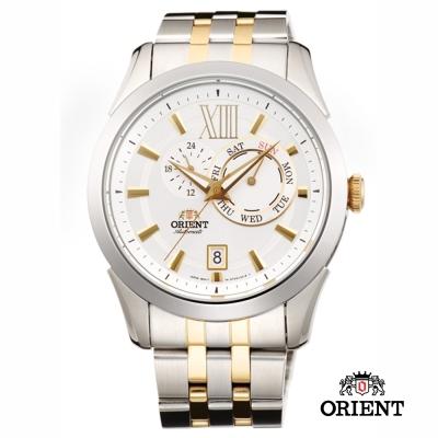 ORIENT 東方錶 DAY & DATE系列 日期星期機械錶-金色/42mm