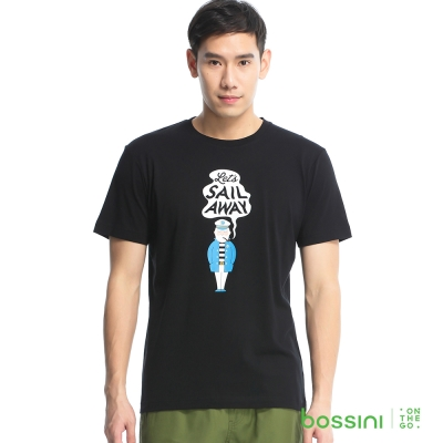 bossini男裝-印花短袖T恤04黑