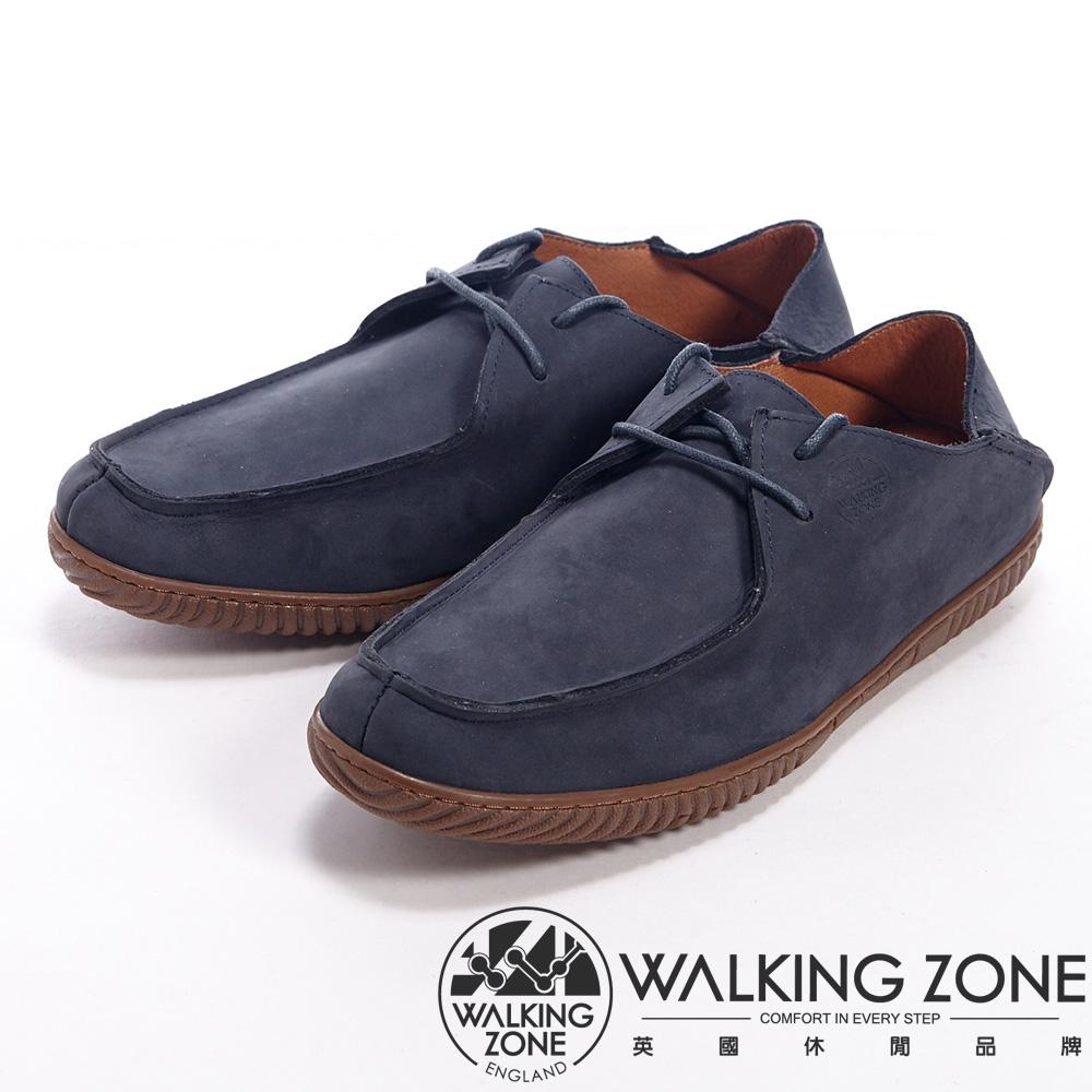 WALKING ZONE 英倫自然風格可兩穿休閒鞋男鞋-藍