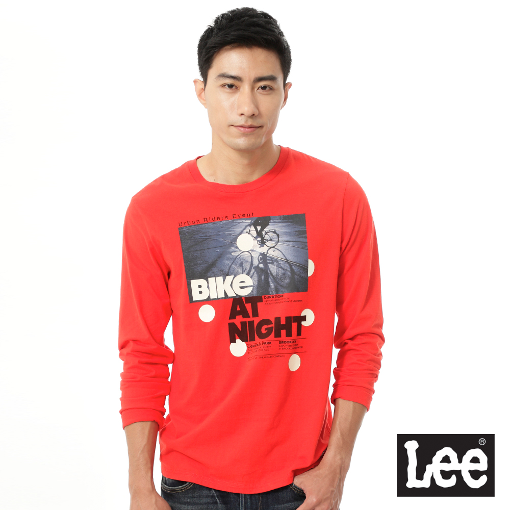 Lee Urban Riders 照片印刷長袖T恤-男款