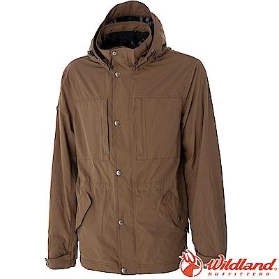 Wildland 荒野 0A52906-82卡其 男Pile防風保暖外套