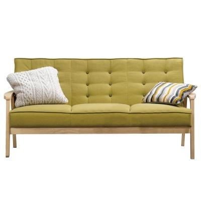 沙發三人座波里斯實木布面沙發品家居