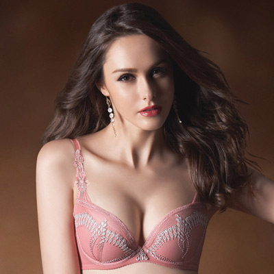 華歌爾-伊珊露絲印象巴黎B-C罩杯內衣-珊瑚粉