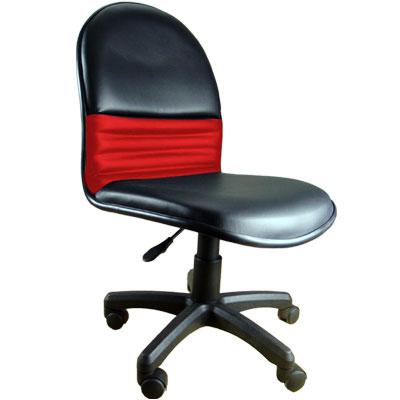黑紅皮質辦公椅/電腦椅