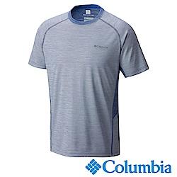 Columbia 哥倫比亞 男-鈦防曬50涼感快排短袖上衣藍色UAE01790BL