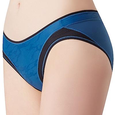 思薇爾 K.K Fit系列M-XXL素面低腰三角內褲(瓷器藍)