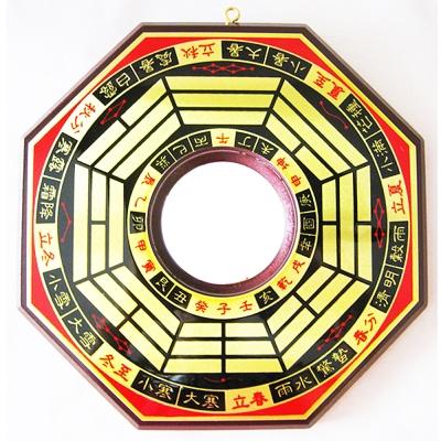 開運陶源 銅版黃楊木凸面八卦鏡(已開光) 直徑21.5cm