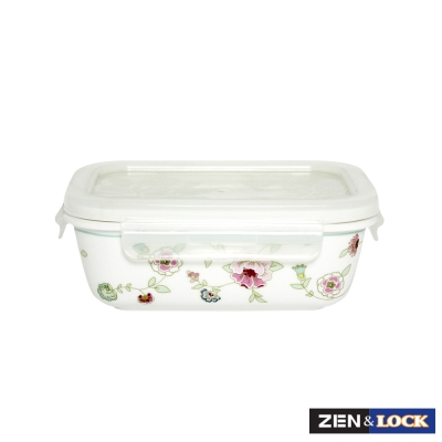 Zen Cook蜜雪兒陶瓷微波盒 長方 400ml