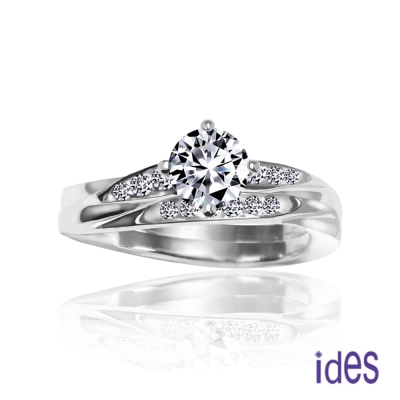 ides愛蒂思 精選33分E/VS1八心八箭完美車工鑽石戒指
