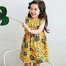 BEBEZOO 韓國 黃色花卉荷葉袖洋裝