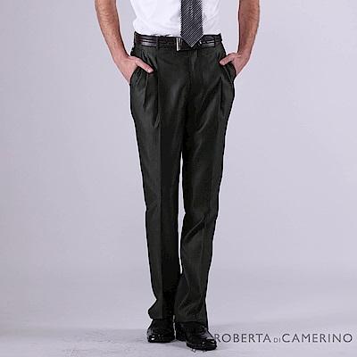 ROBERTA諾貝達 義大利原裝進口 蠶絲條紋西裝褲 深灰