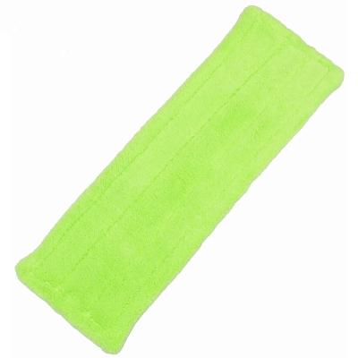 加寬型超細珊瑚絨靜電除塵拖把平板拖把補充拖布(1018B)